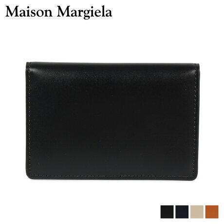 メゾンマルジェラ MAISON MARGIELA カードケース 名刺入れ 定期入れ メンズ レディース CARD CASE レザー ブラック ダーク ネイビー ベージュ ブラウン 黒 S55UI0201 P2714 [10/9 新入荷]
