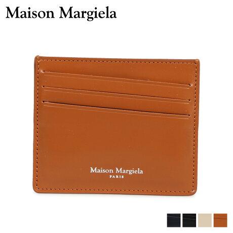 メゾンマルジェラ MAISON MARGIELA カードケース 名刺入れ 定期入れ メンズ レディース レザー CARD CASE ブラック ダーク ネイビー ベージュ ブラウン 黒 S35UI0432 P2714 [10/8 新入荷]