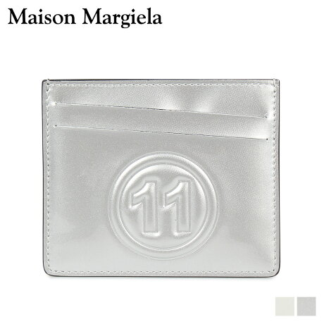 メゾンマルジェラ MAISON MARGIELA カードケース 名刺入れ 定期入れ メンズ レディース CARD CASE レザー ホワイト シルバー 白 S35UI0432 PR213 [10/8 新入荷]