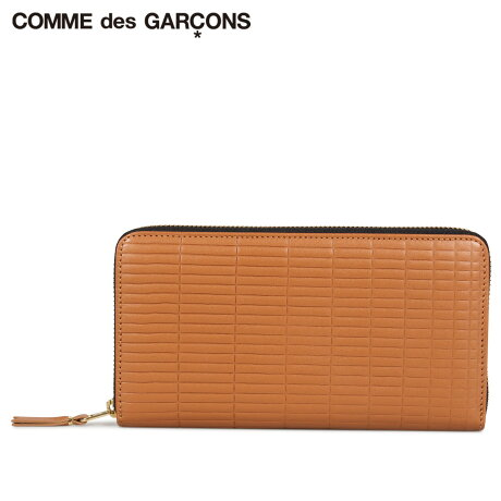 コムデギャルソン COMME des GARCONS 財布 長財布 メンズ レディース ラウンドファスナー 本革 BRICK WALLET ブラウン SA0111BK [予約商品 10/10頃入荷予定 新入荷]