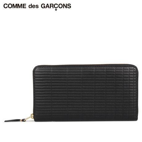 コムデギャルソン COMME des GARCONS 財布 長財布 メンズ レディース ラウンドファスナー 本革 BRICK WALLET ブラック 黒 SA0111BK [予約商品 10/10頃入荷予定 新入荷]