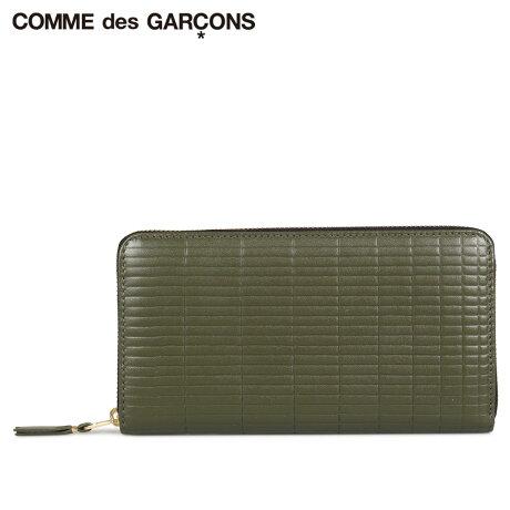 コムデギャルソン COMME des GARCONS 財布 長財布 メンズ レディース ラウンドファスナー 本革 BRICK WALLET カーキ SA0111BK [予約商品 10/10頃入荷予定 新入荷]