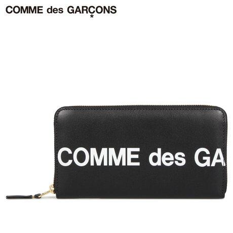 コムデギャルソン COMME des GARCONS 財布 長財布 メンズ レディース ラウンドファスナー 本革 HUGE LOGO WALLET ブラック 黒 SA0111HL [予約商品 10/10頃入荷予定 新入荷]