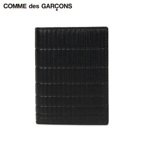 コムデギャルソン COMME des GARCONS 財布 二つ折り メンズ レディース 本革 BRICK LINE WALLET ブラック 黒 SA0641BK [予約商品 10/10頃入荷予定 新入荷]