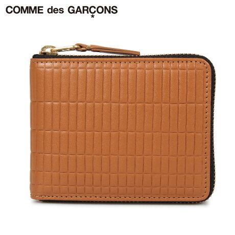 コムデギャルソン COMME des GARCONS 財布 二つ折り メンズ レディース ラウンドファスナー 本革 BRICK WALLET ブラウン SA7100BK [予約商品 10/10頃入荷予定 新入荷]