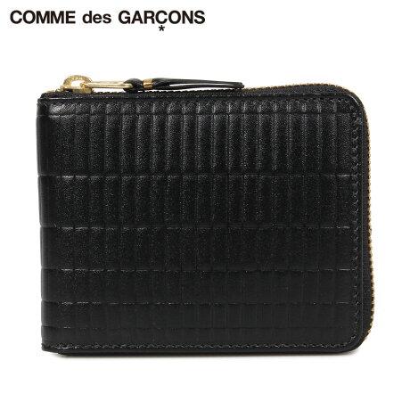 コムデギャルソン COMME des GARCONS 財布 二つ折り メンズ レディース ラウンドファスナー 本革 BRICK WALLET ブラック 黒 SA7100BK [予約商品 10/10頃入荷予定 新入荷]