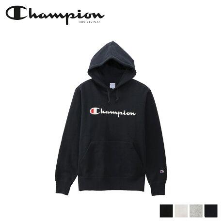 チャンピオン Champion パーカー スウェット プルオーバー メンズ レディース ロゴ PULLOVER HOODED SWEATSHIRT ブラック ホワイト グレー ネイビー 黒 白 C3-Q102 [予約商品 10/16頃入荷予定 新入荷]
