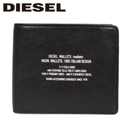 ディーゼル DIESEL 財布 二つ折り メンズ 本革 BANDER HIRESH S ブラック 黒 X06295 PS142 [9/12 新入荷]