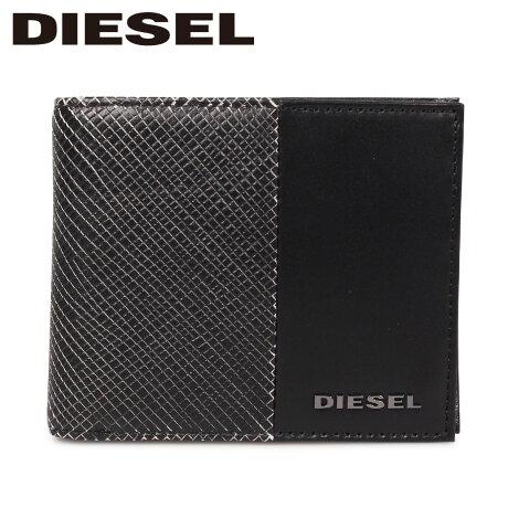 ディーゼル DIESEL 財布 二つ折り メンズ 本革 HIRESH S CALTRANO ブラック 黒 X06311 P0598 [9/12 新入荷]