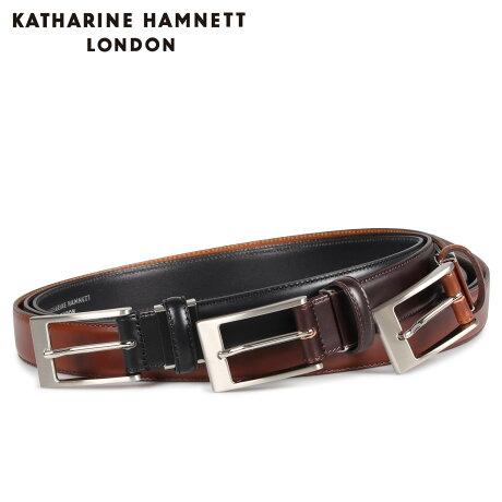 キャサリンハムネット ロンドン KATHARINE HAMNETT LONDON ベルト レザーベルト メンズ 本革 LEATHER BELT ブラック ブラウン ダーク ブラウン 黒 KH505015 [予約商品 10/15頃入荷予定 新入荷]