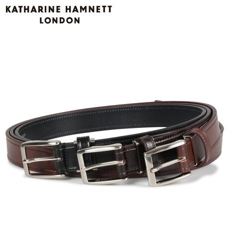 キャサリンハムネット ロンドン KATHARINE HAMNETT LONDON ベルト レザーベルト メンズ 本革 LEATHER BELT ブラック ブラウン ダーク ブラウン 黒 KH505025 [予約商品 10/15頃入荷予定 新入荷]