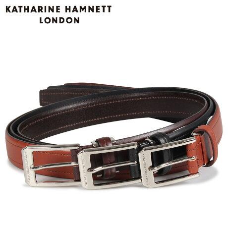 キャサリンハムネット ロンドン KATHARINE HAMNETT LONDON ベルト レザーベルト メンズ 本革 LEATHER BELT ブラック ブラウン ダーク ブラウン 黒 KH505032 [予約商品 10/15頃入荷予定 新入荷]