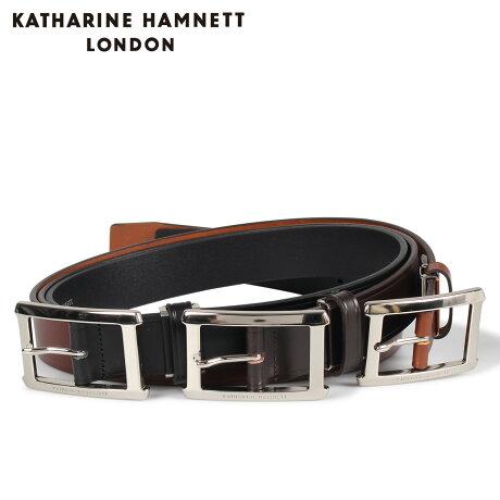 キャサリンハムネット ロンドン KATHARINE HAMNETT LONDON ベルト レザーベルト メンズ 本革 LEATHER BELT ブラック ブラウン ダーク ブラウン 黒 KH506028 [予約商品 10/15頃入荷予定 新入荷]