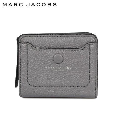 マークジェイコブス MARC JACOBS 財布 二つ折り レディース 本革 MINI COMPACT WALLET グレー M0014215 [9/24 新入荷]