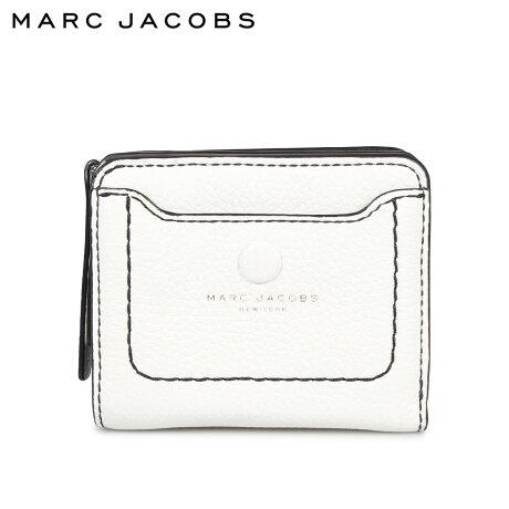 マークジェイコブス MARC JACOBS 財布 二つ折り レディース 本革 MINI COMPACT WALLET ホワイト 白 M0014215 [9/24 新入荷]