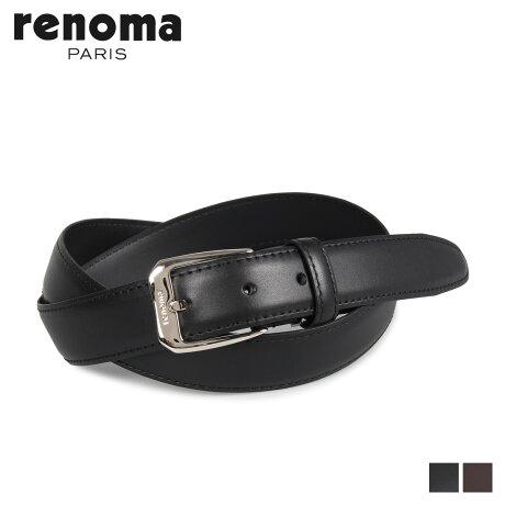 RENOMA レノマ ベルト レザーベルト メンズ 本革 LEATHER BELT ブラック ダーク ブラウン 黒 RE-190507 [予約商品 10/15頃入荷予定 新入荷]