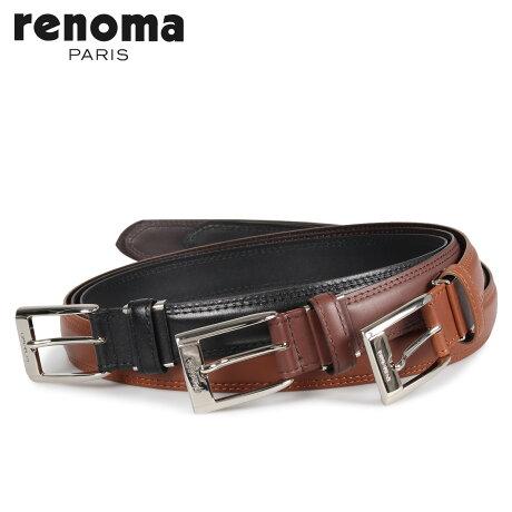 RENOMA レノマ ベルト レザーベルト メンズ 本革 LEATHER BELT ブラック ブラウン ダーク ブラウン 黒 RE-205062 [予約商品 10/15頃入荷予定 新入荷]