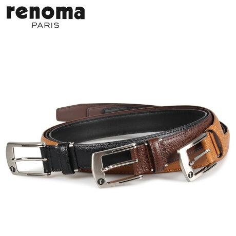 RENOMA レノマ ベルト レザーベルト メンズ 本革 LEATHER BELT ブラック ブラウン ダーク ブラウン 黒 RE-205082 [予約商品 10/15頃入荷予定 新入荷]