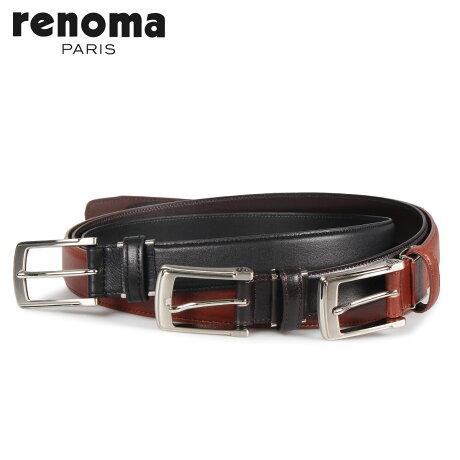 RENOMA レノマ ベルト レザーベルト メンズ 本革 LEATHER BELT ブラック ブラウン ダーク ブラウン 黒 RE-205092 [予約商品 10/15頃入荷予定 新入荷]