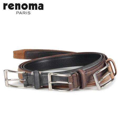 RENOMA レノマ ベルト レザーベルト メンズ 本革 LEATHER BELT ブラック ベージュ ダーク ブラウン 黒 RE-506017 [予約商品 10/15頃入荷予定 新入荷]