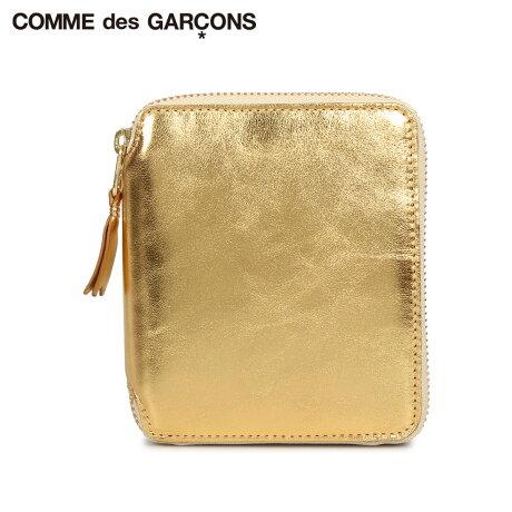 コムデギャルソン COMME des GARCONS 財布 二つ折り メンズ レディース ラウンドファスナー 本革 GOLD AND SILVER WALLET ゴールド SA2100G [予約商品 10/10頃入荷予定 新入荷]
