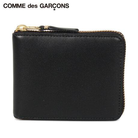 コムデギャルソン COMME des GARCONS 財布 二つ折り メンズ レディース ラウンドファスナー 本革 CLASSIC WALLET ブラック 黒 SA7100 [予約商品 10/10頃入荷予定 新入荷]
