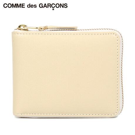コムデギャルソン COMME des GARCONS 財布 二つ折り メンズ レディース ラウンドファスナー 本革 CLASSIC WALLET オフ ホワイト SA7100 [予約商品 10/10頃入荷予定 新入荷]