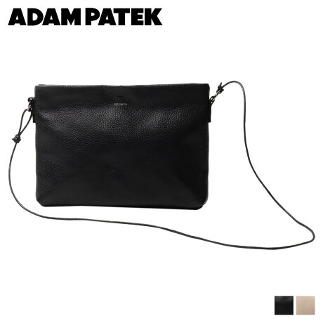 アダムパテック ADAM PATEK バッグ ショルダーバッグ メンズ レディース CRESTON COW LEATHER MUSETTE BAG ブラック ベージュ 黒 AMPK-B051 [予約 2/21 追加入荷予定]