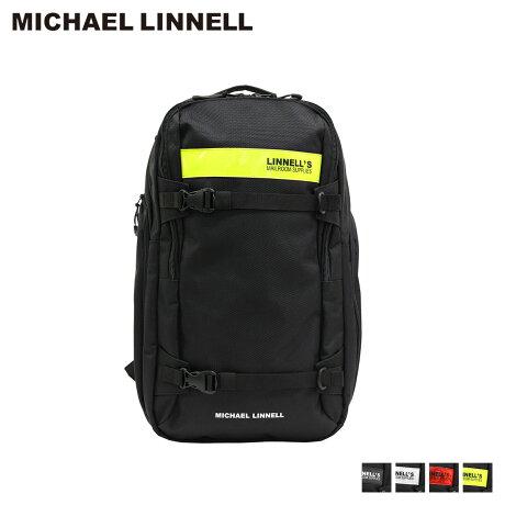 マイケルリンネル MICHAEL LINNELL リュック バッグ 29L メンズ レディース バックパック 2FLAP BACKPACK ブラック 黒 ML-030 [予約商品 10/18頃入荷予定 新入荷]