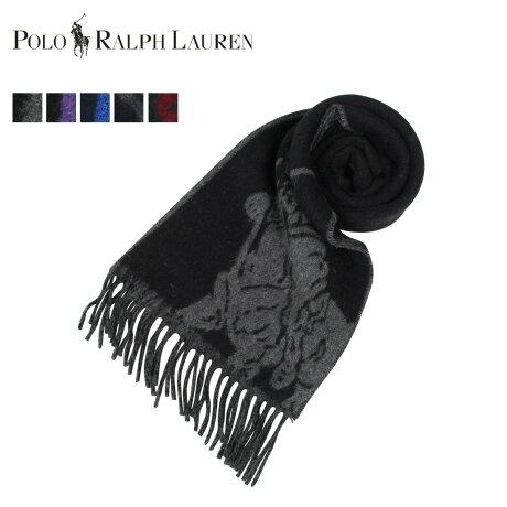 POLO RALPH LAUREN ポロ ラルフローレン マフラー メンズ レディース ウール ビッグポニー BIG PONY JACQUARD SCARF ブラック ネイビー ブルー ダーク グリーン 黒 PC0454