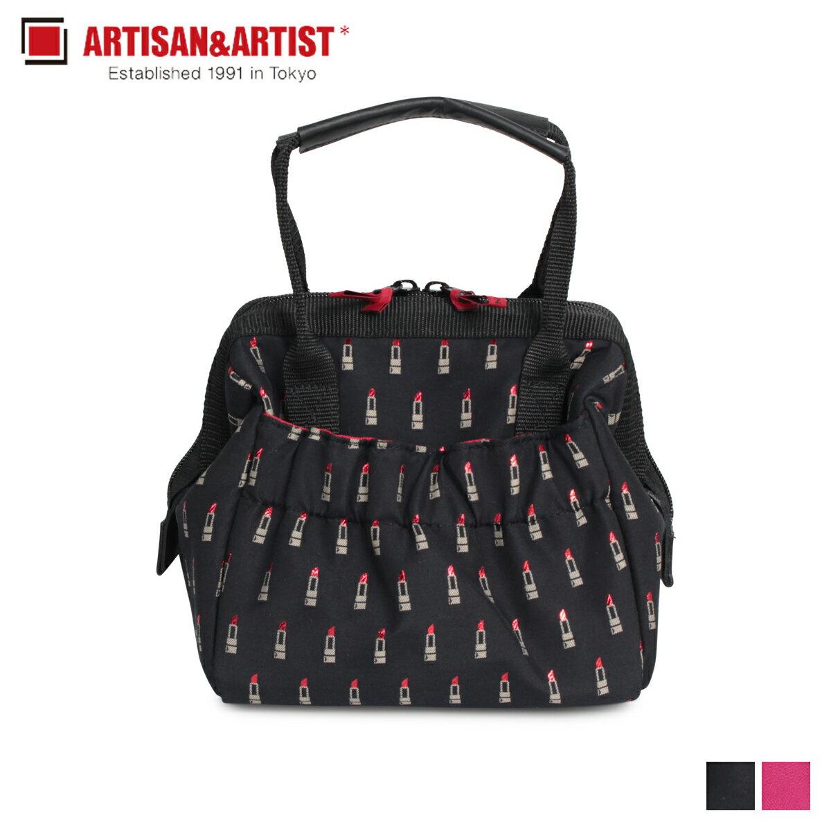 レディースバッグ, 化粧ポーチ 1000OFF ARTISANARTIST 2WAY WIDE OPEN COMPACT BAG KG2LI-701