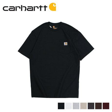carhartt カーハート Tシャツ 半袖 メンズ コットン WORKER POCKET S/S T-SHIRTS ブラック ホワイト グレー ネイビー ベージュ 黒 K87
