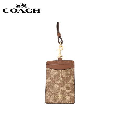 COACH コーチ パスケース カードケース ID 定期入れ レディース シグネチャー カーキ F63274-IME74