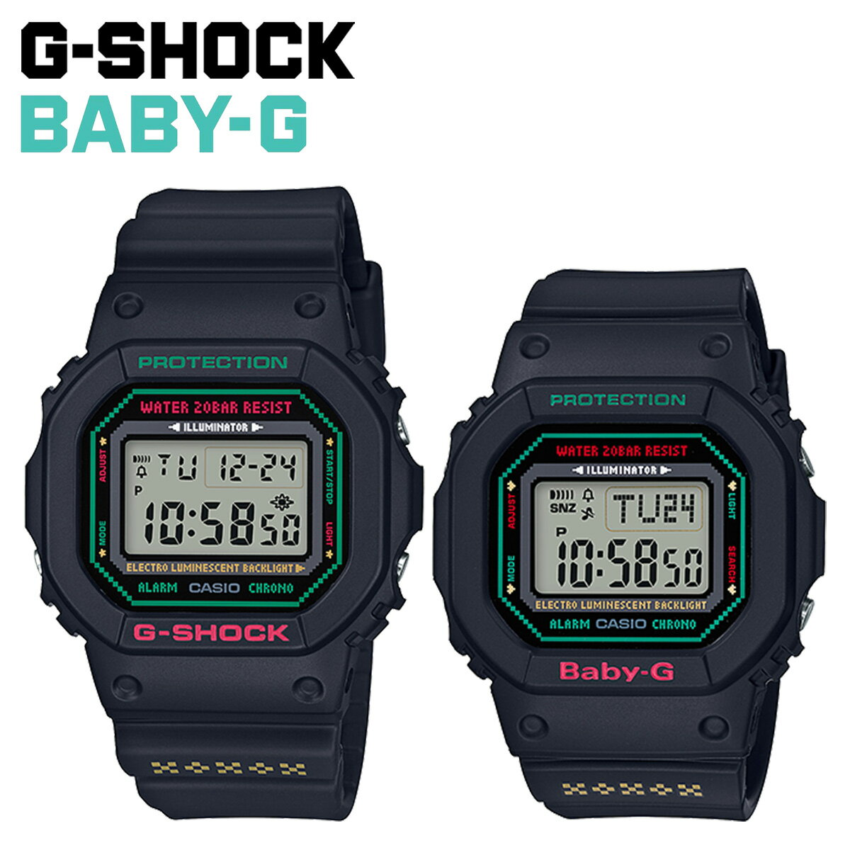 腕時計, ペアウォッチ CASIO G-SHOCK BABY-G LOV-19B-1JR G G