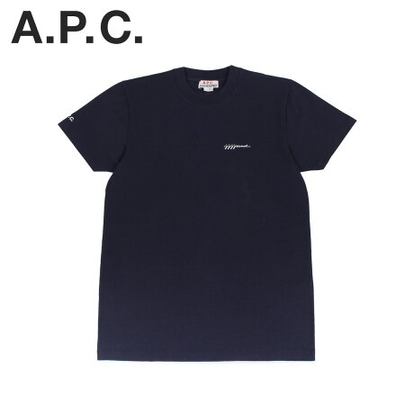 A.P.C. JJJJound アーペーセー ジョウンド Tシャツ 半袖 ロゴ カットソー メンズ コラボ T-SHIRT JJJJOUND ネイビー COEAV-H26851 [予約 2/28 追加入荷予定]