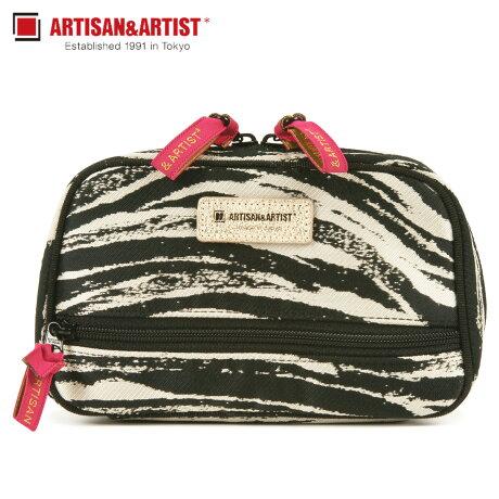 アルティザン&アーティスト ARTISAN&ARTIST ポーチ メイクポーチ コスメポーチ レディース ZEBRA CHIC ブラック 黒 9WP-ZB117 [1/30 新入荷]