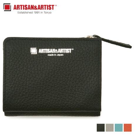 アルティザン&アーティスト ARTISAN&ARTIST 財布 三つ折り レディース PLANE ブラック グレー ブルー オレンジ 黒 9WS-AD721 [1/30 新入荷]