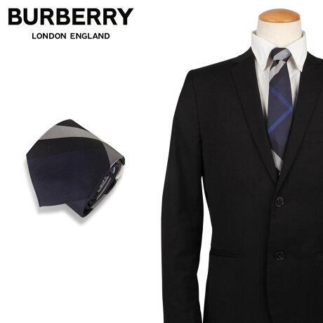 バーバリー BURBERRY ネクタイ メンズ イタリア製 シルク チェック TIE ネイビー 8013820 [1/28 新入荷]