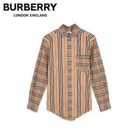 バーバリー BURBERRY シャツ 長袖 オックスフォードシャツ メンズ チェック ストライプ SHIRTS ベージュ 8010640 [1/24 新入荷]