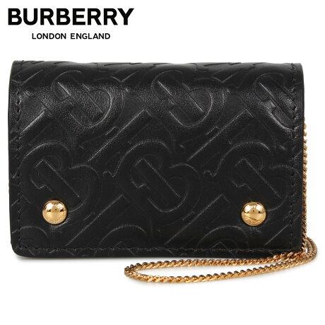 バーバリー BURBERRY カードケース ショルダー レディース 本革 CARD CASE ブラック 黒 8011333 [1/28 新入荷]