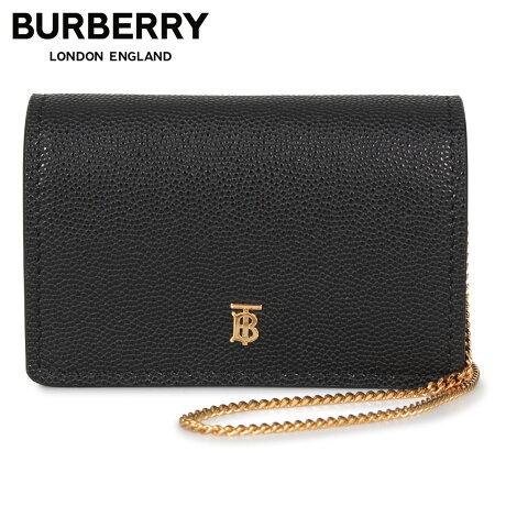 バーバリー BURBERRY カードケース ショルダー レディース 本革 CARD CASE ブラック 黒 8018968 [1/28 新入荷]