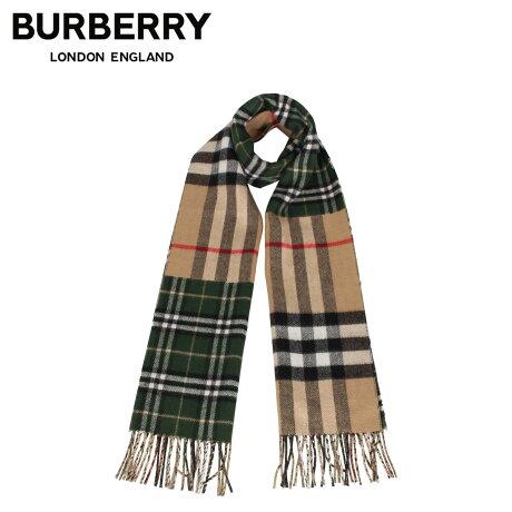 バーバリー BURBERRY マフラー スカーフ メンズ レディース チェック カシミア MUFFLER グリーン 8022477 [1/28 新入荷]