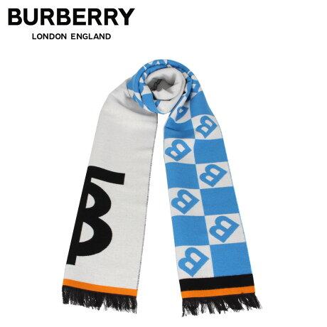 バーバリー BURBERRY マフラー スカーフ メンズ レディース ウール シルク MUFFLER ブルー 8023067 [1/28 新入荷]