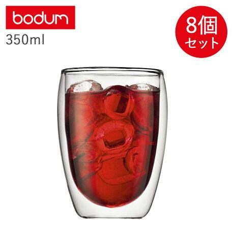 ボダム bodum ダブルウォールグラス パヴィーナ グラス セット 8個セット 350ml 保温 保冷 DOUBLE WALL GLASS PAVINA クリア 4559-10US [予約 1/31 新入荷予定]