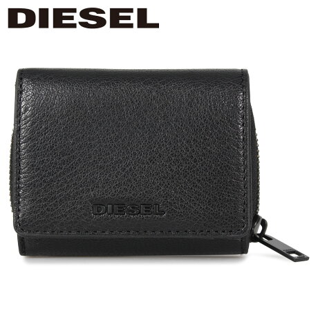 ディーゼル DIESEL 財布 三つ折り メンズ SPEJAP ブラック 黒 X06639-P3043 [1/24 新入荷]