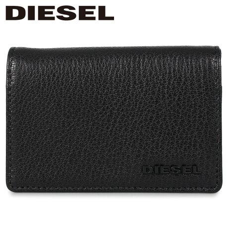 ディーゼル DIESEL カードケース パスケース 二つ折り ID 定期入れ メンズ DUKEZ ブラック 黒 X06643-P3043 [1/24 新入荷]
