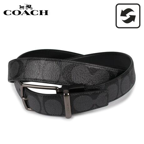 コーチ COACH ベルト レザーベルト メンズ リバーシブル ブラック 黒 F64825-CQBK [予約 1/31 新入荷予定]