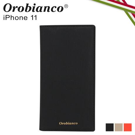 オロビアンコ Orobianco iPhone11 ケース スマホ 携帯 手帳型 アイフォン メンズ レディース GOMMA BOOK TYPE SMARTPHONE CASE ブラック グレージュ オレンジ 黒 ORIP-0007-11 [予約 2/3 新入荷]