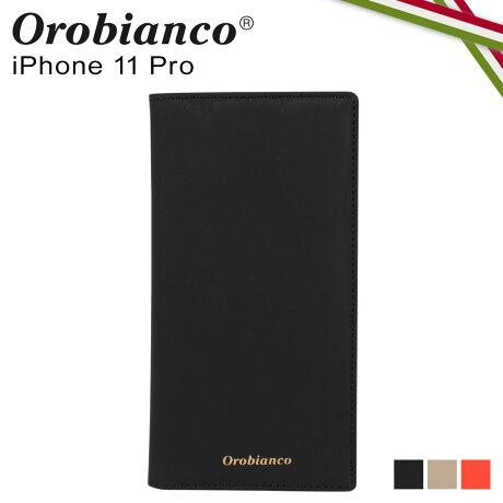 オロビアンコ Orobianco iPhone11 Pro ケース スマホ 携帯 手帳型 アイフォン メンズ レディース GOMMA BOOK TYPE SMARTPHONE CASE ブラック グレージュ オレンジ 黒 ORIP-0007-11Pro [予約 2/3 新入荷]