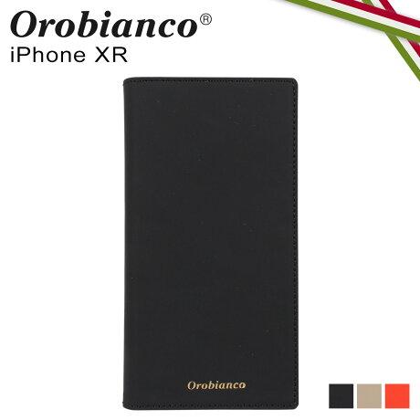 オロビアンコ Orobianco iPhoneXR ケース スマホ 携帯 手帳型 アイフォン メンズ レディース GOMMA BOOK TYPE SMARTPHONE CASE ブラック グレージュ オレンジ 黒 ORIP-0007XR [予約 2/3 新入荷]